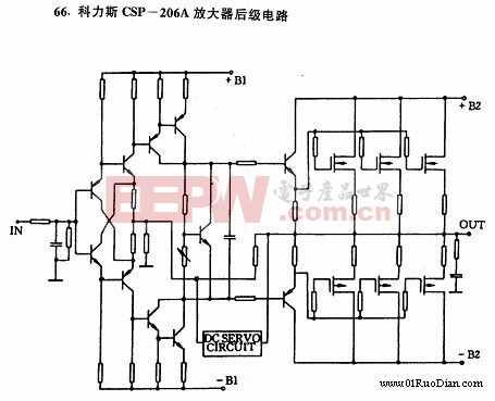 科力斯CSP-206A放大器后级电路