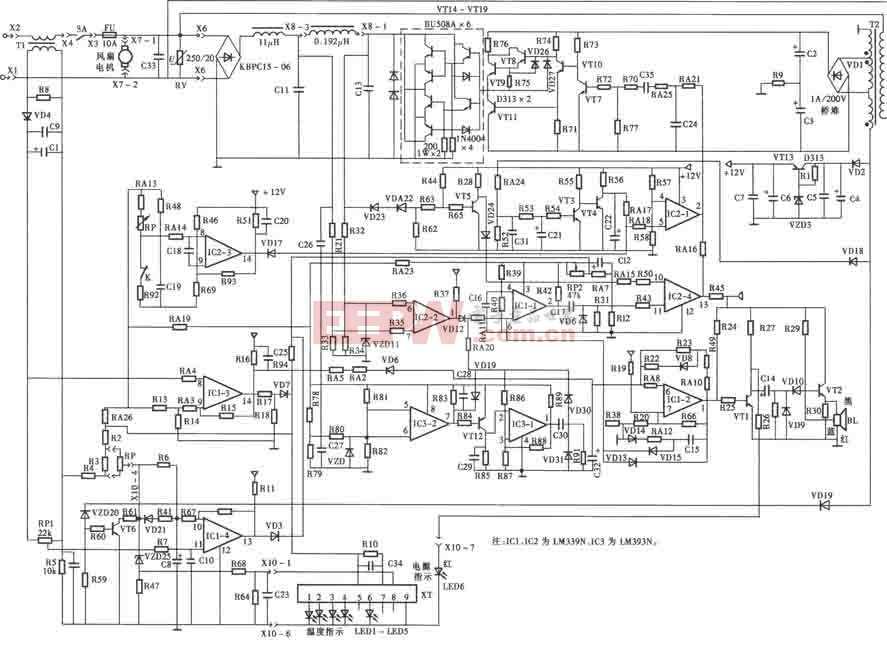 索浦SP-200型电磁炉电路图