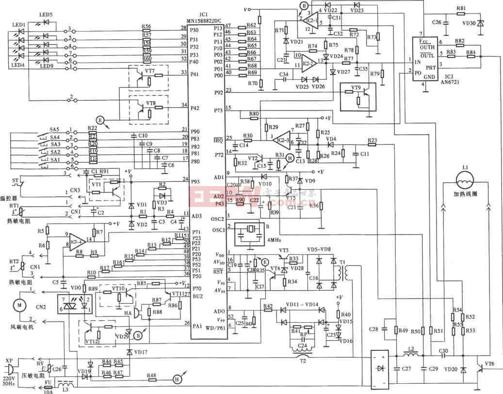 松下KY-P2N电磁炉电路图
