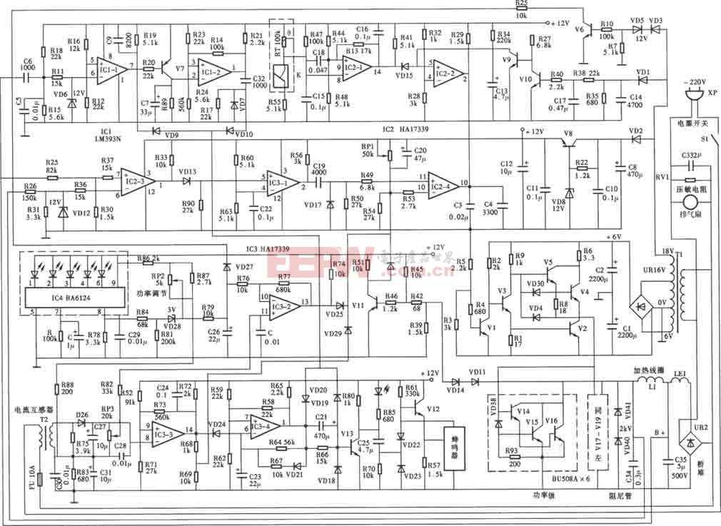 永华牌M0-88型电磁炉电路图
