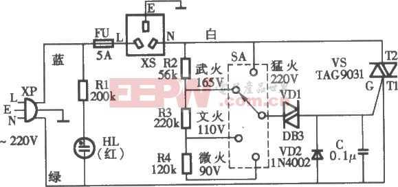 新美牌VL-95Q型电饭锅煲粥器电路图