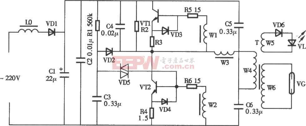 臭氧发生器电路图