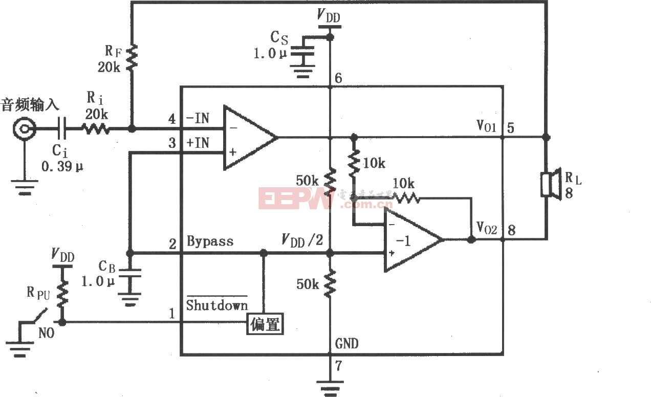 LM4902 音頻功率放大電路(MSOP封裝)