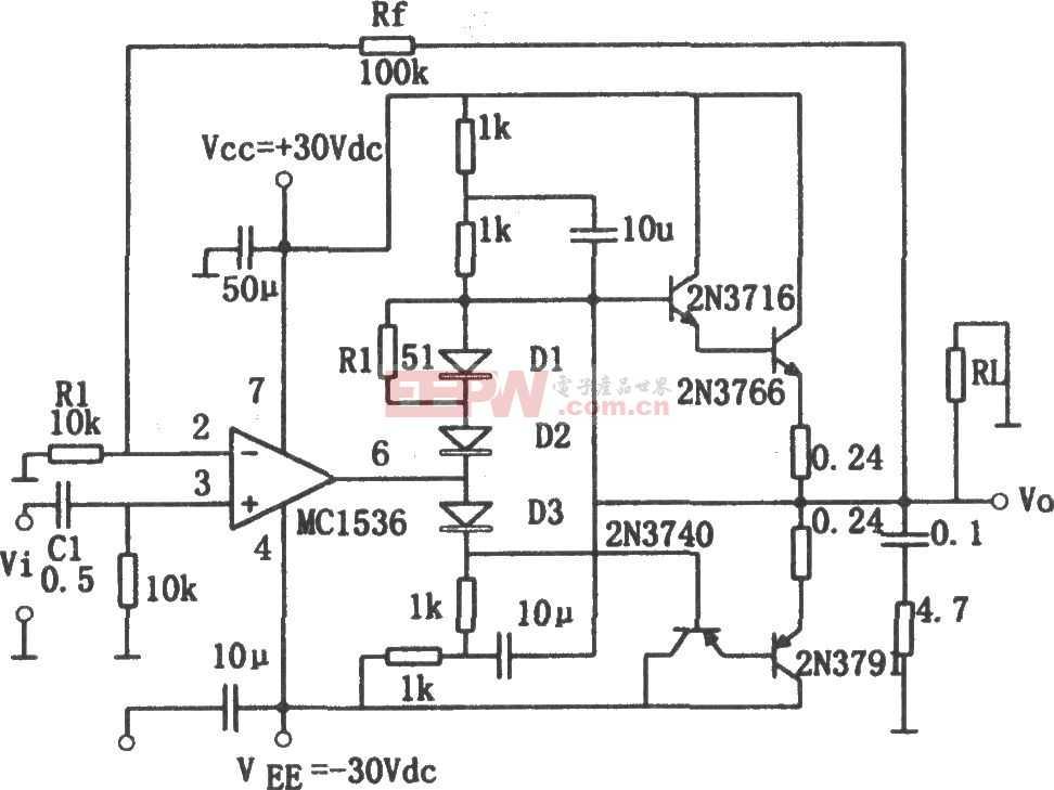 MC1563構成的音頻功率放大器