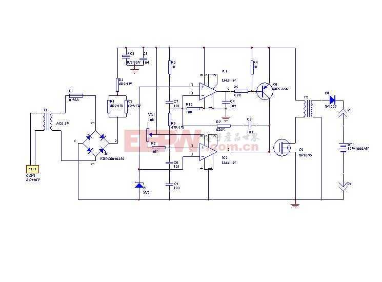 电瓶修复仪电路图