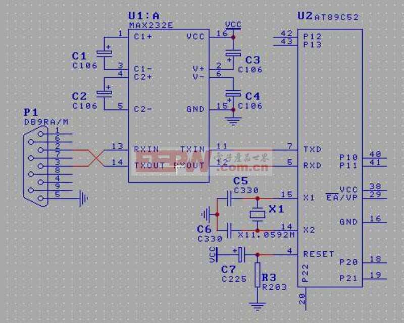 RS232接口电路图