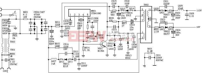 绝对可用的开关电源:STR41090电源