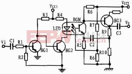 光藕代替音频变压器电路图