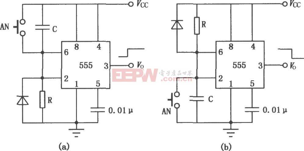 555组成的定时电路图