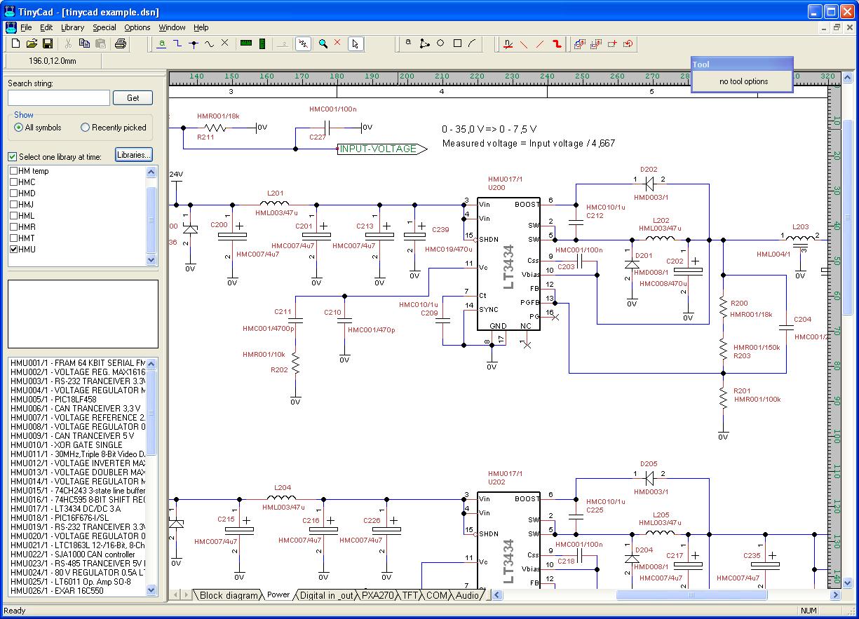 电路图绘制软件 tinycad