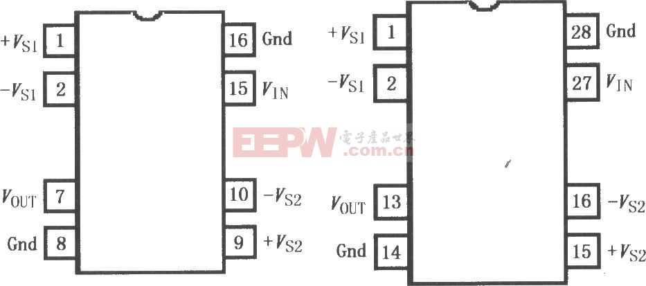 精密隔离放大器ISO122/124引脚图