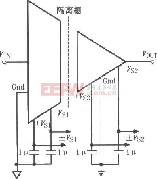 ISO122/124电源和信号的基本连接电路图