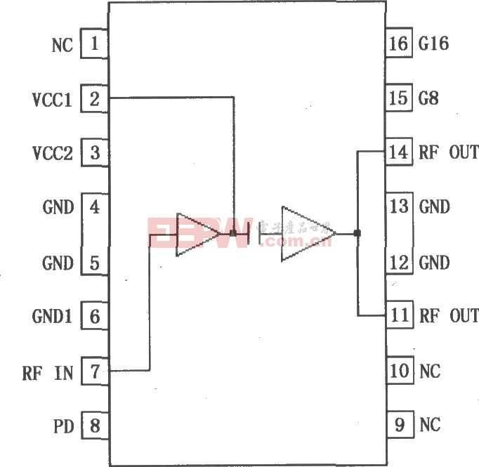 RF2155可编程增益功率放大器引脚