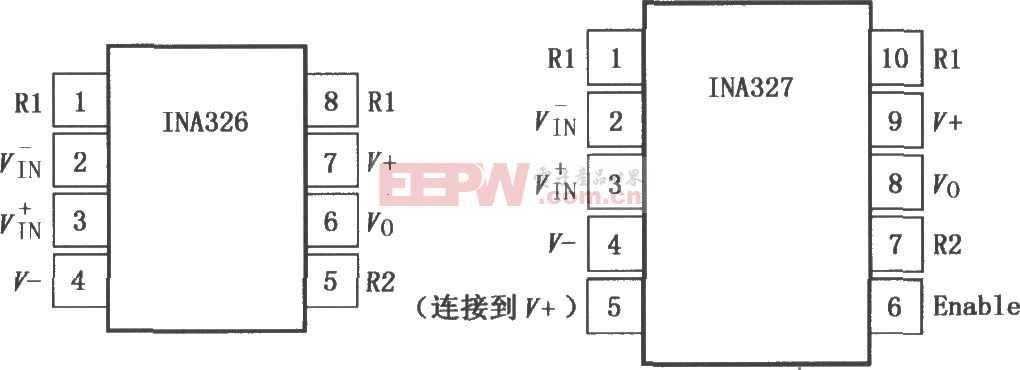 INA326/327精密Rail-Rail I/O仪表放大器电路