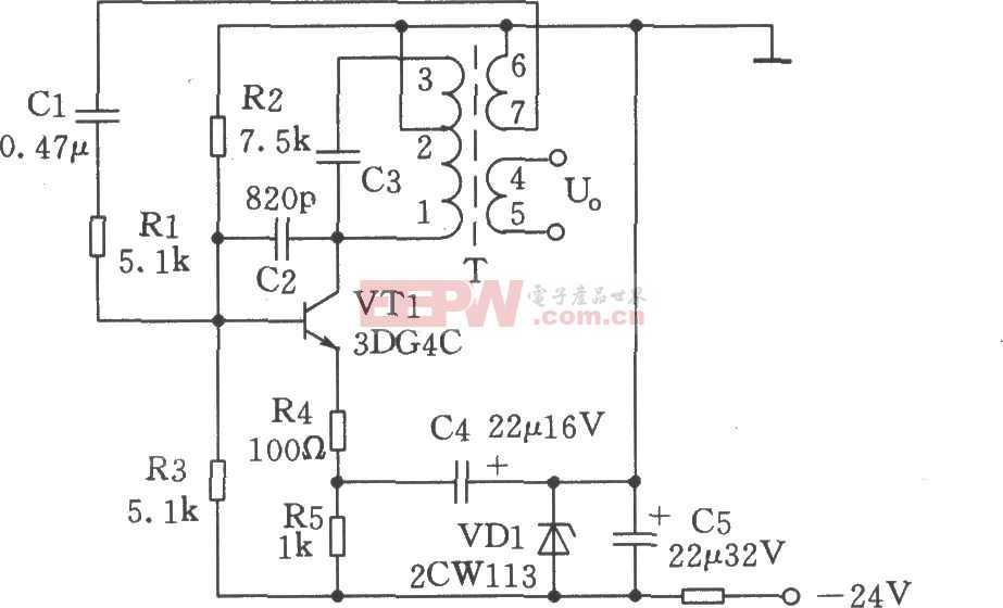 500Hz 信号发生器电路图