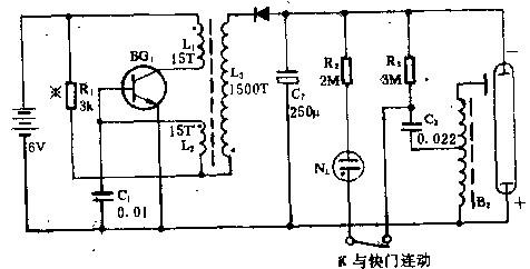 海鸥牌SX2-320型闪光灯电路