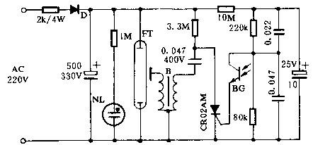 银燕牌CY-2600型闪光灯电路