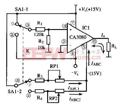 基于CA3080芯片的双极性电流源电路