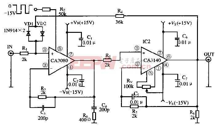 基于放大器CA3080及CA3140芯片的取样保持电路