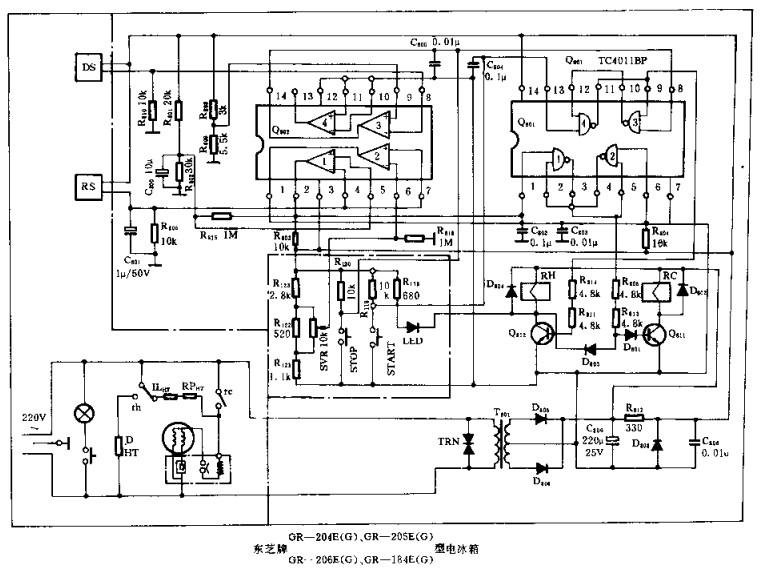 东芝牌GR-204E等型电冰箱