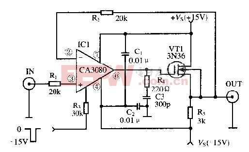 基于放大器CA3080芯片的取样保持电路