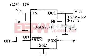 基于MAX8880/MAX8881芯片的低功耗稳压电路