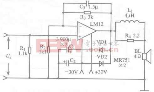 基于LM12芯片的功率放大电路