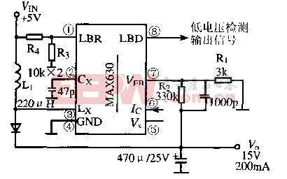 基于MAX630芯片的可变输出直流变换电路