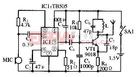 基于TB505芯片的微型无线话筒电路