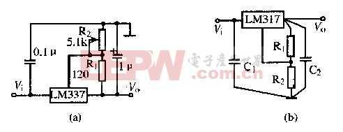 337芯片的负稳压电源电路图片