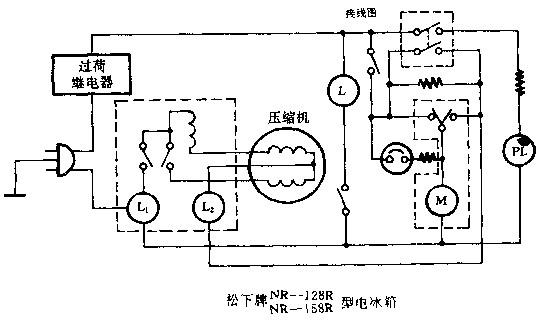 松下NR-128R型等电冰箱