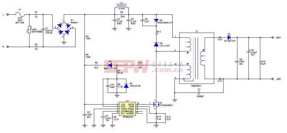 TPS92310典型电路图