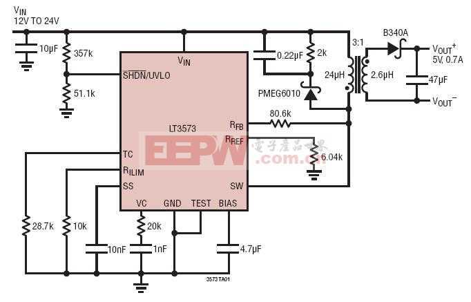 电源电路图 线性稳压电源电路图 ->24vin 至 5vout/0.