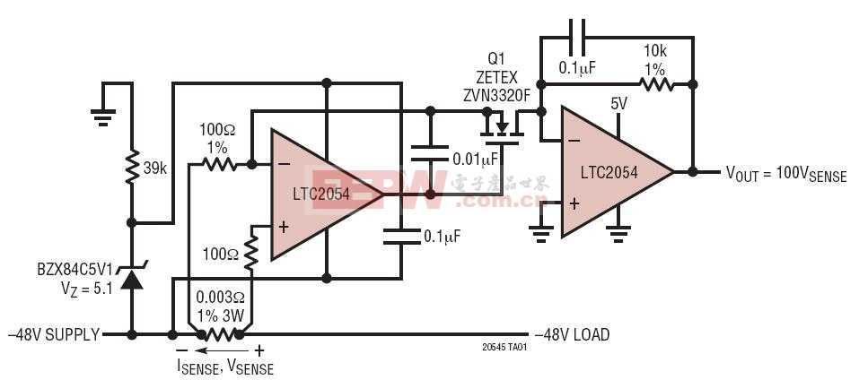-48V 低端精准电流检测