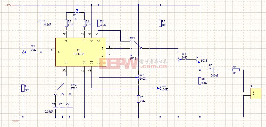 IVL8032构成的函数发生器