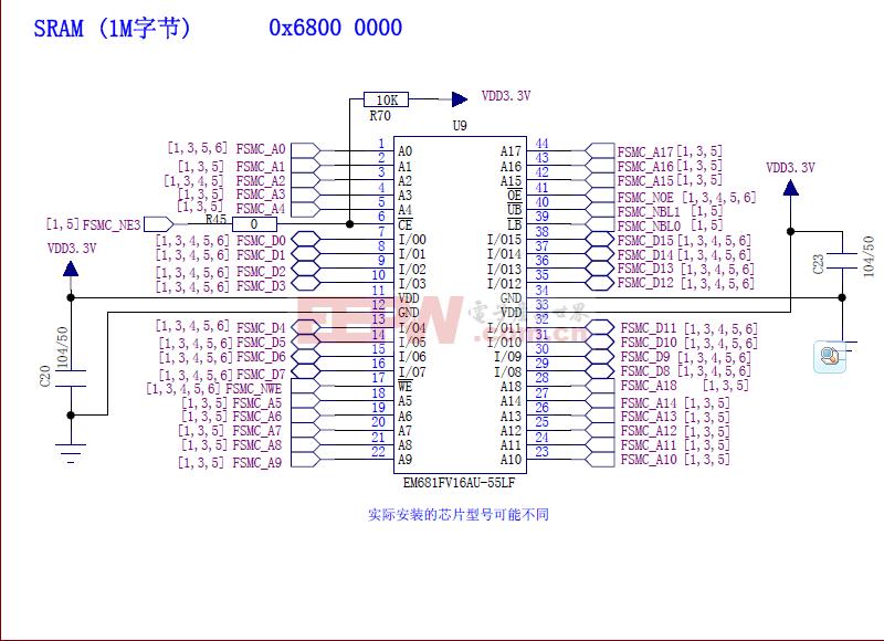 STM32 外接SRAM电路