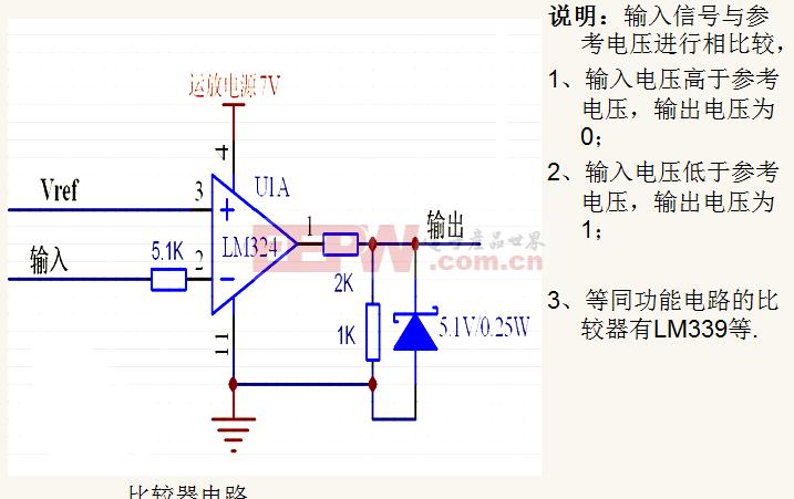 模拟电路系统 比较器电路 电路图 电子产品世界高清图片