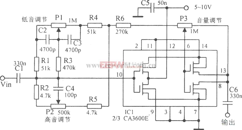 小功率低音炮制作电路