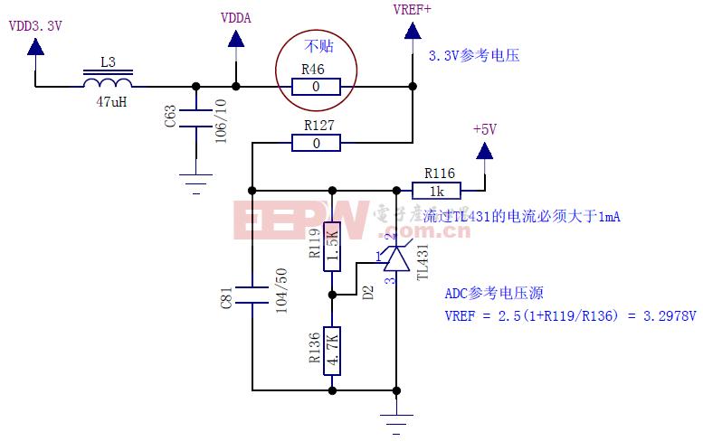STM32 3.3V参考电压(用于DAC和ADC)