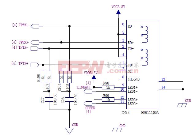 STM32 100M、10M网卡电路(下)