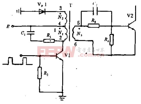 单极性脉冲变压器驱动电路原理图