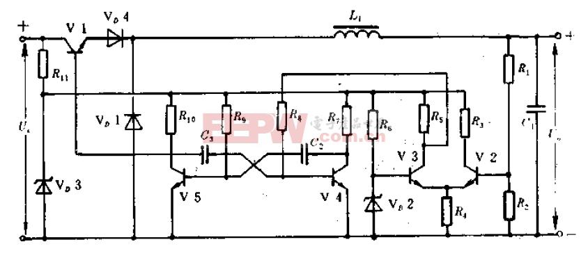 频率可变、脉宽固定的开关稳压电源电路