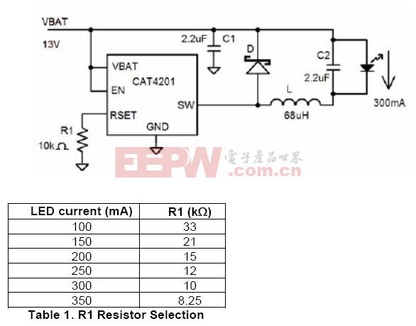 1W大功率LED驱动芯片