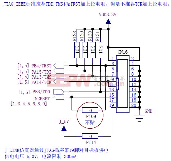 STM32JTAG调试电路