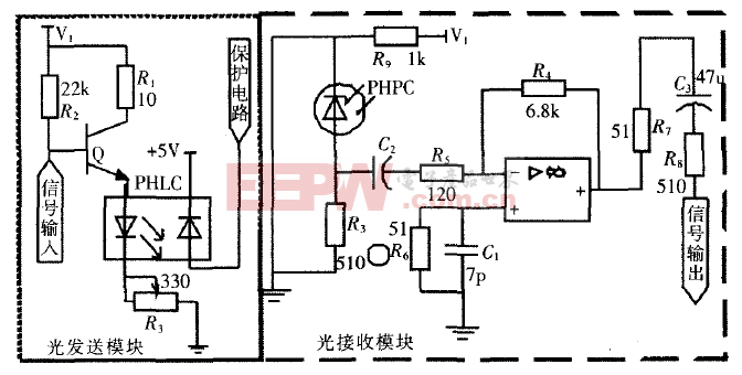MSP430與光纖通信接口電路設計