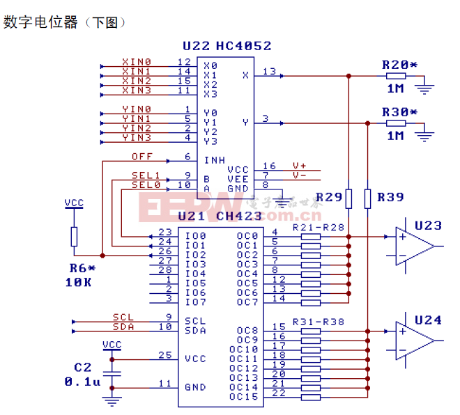CH423数字电位器