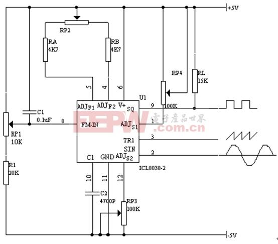 单片集成电路函数发生器IC8038