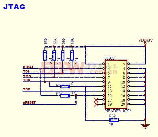 S3C2440 JTAG仿真电路