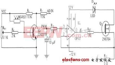 环境光检测及恒流源电路原理图