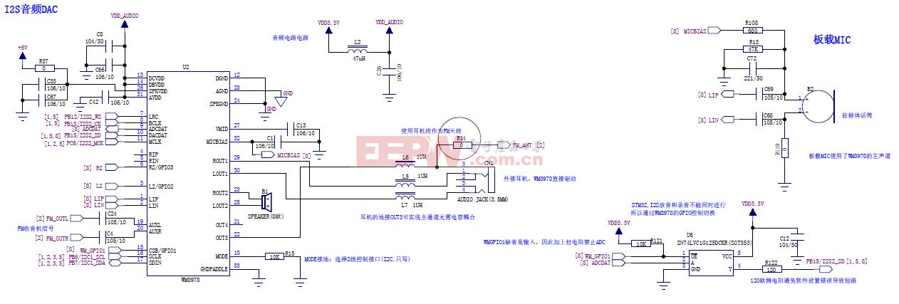 STM32 I2S音频DAC电路